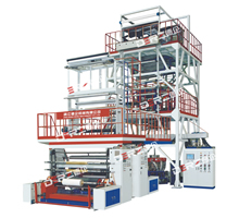 Three-layer  Co-extrusion Up-traction Rotation Film Blowing Machine